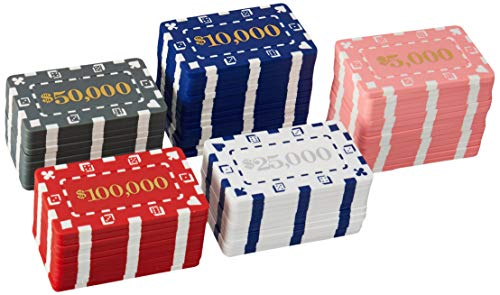 Brybelly Denominated Rectangular Poker Plaques in Aluminum Case (Set of 60)