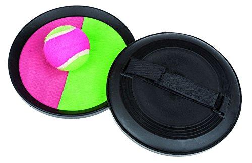 Idena 7408462 - Klettball - Set, 2 Handfänger und 1 Ball