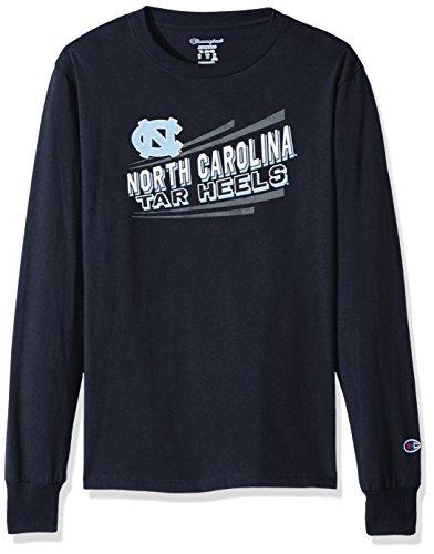 NCAA North Carolina Tar Heels Youth Boys Long Sleeve Jersey Tee, Medium, Navy
