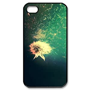 Blowing Dandelion Phone Cases For iPhone 4/4s Black