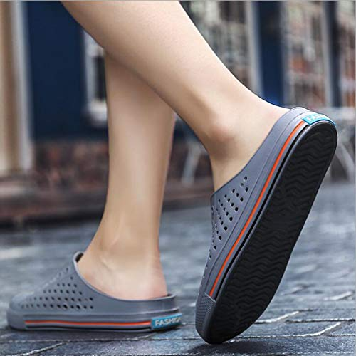 Gray Lazy Couple Sandalsbreathable Summer Hollow Beach Hole Half Slippers 2018 Comfortable WvqSHZnOxH