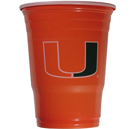 (Siskiyou NCAA Miami Hurricanes Plastic Game Day Cups 2 Sleeves of 18 (36)