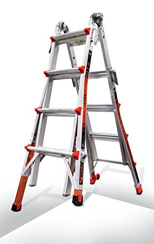 Little Giant Ladder Systems 12017-801 Revolution M17 with Ratcheting Levelers (A-frame Ladder System)