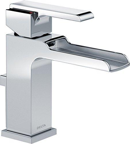 (Delta Faucet Ara Single-Handle Waterfall Bathroom Faucet with Metal Drain Assembly, Chrome 568LF-MPU )