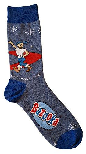 Bazooka Joe Bubble Gum Men's Novelty Crew Socks - Shop Planet Blue