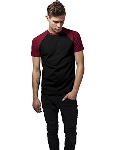 blk Urban shirt Tee burgundy Uomo 651 Contrast Classics T Mehrfarbig Raglan 18fxwFr1