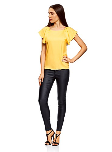 5200n avec Jaune Femme Manches Ailettes en Viscose oodji Ultra Blouse wR5nxqPwzX