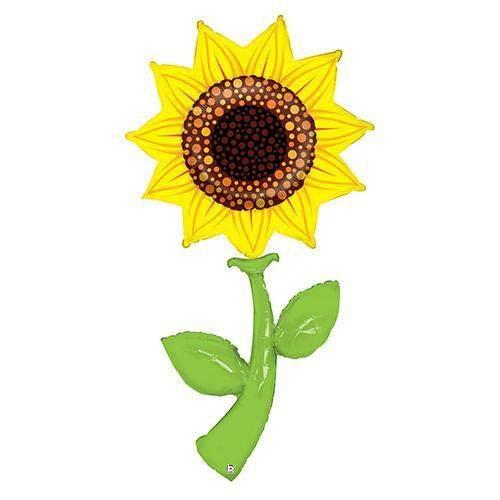 60 Inch Sunflower Fresh Picks Helium Shape Balloon -
