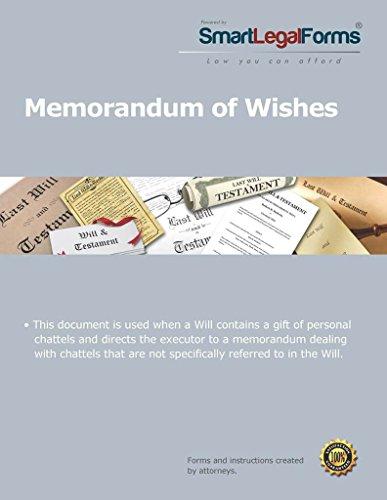 Memorandum of Wishes [Instant Access]