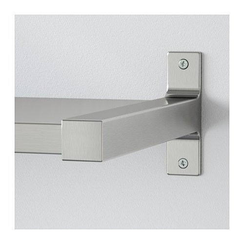 Amazing EKBY MOSSBY / EKBY BJÄRNUM Wall shelf, stainless steel, aluminum