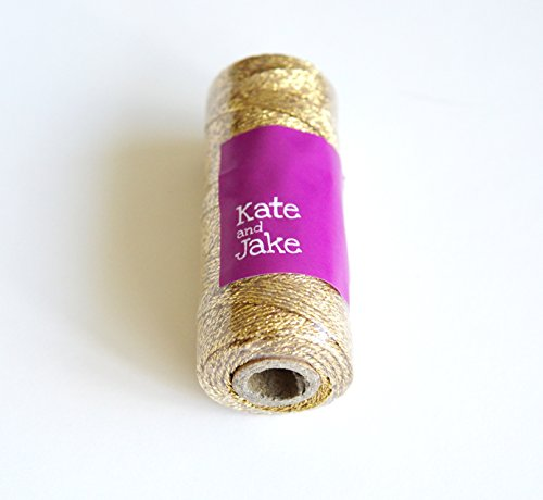 Kate & Jake Metallic Baker's Twine - 110 yards - Metallic Gold Baker's Twine Metallic Baker's Twine Gift Packaging (Gold)