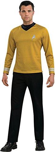 Halloween Star Trek (Rubie's Costume Star Trek Gold Star Fleet Uniform Shirt, Gold, Large Costume)