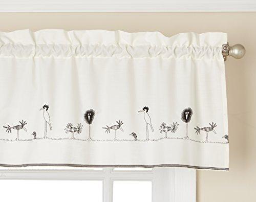 Cheap Lorraine Home Fashions Birdland Tailored Curtain 00346-V-00400  Valance, 56 inch x 12 inch, Black/Ecru