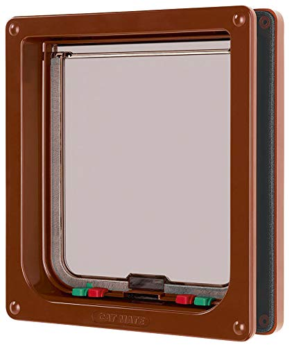 Cat Mate Inc  221 Locking Cat Door Large (Brown)