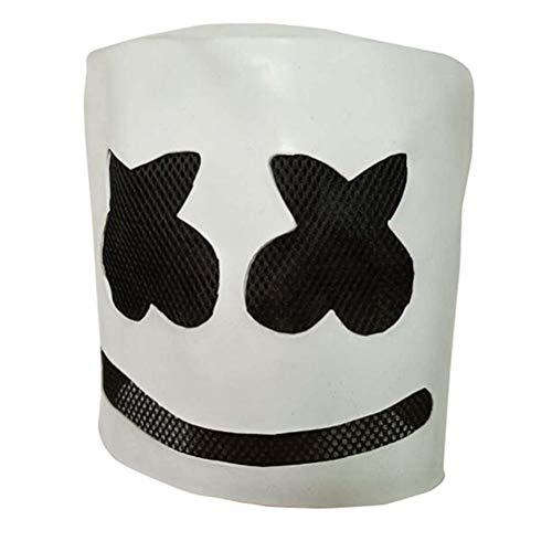 Xinjiahe DJ Marshmello Mask - Halloween Party Cosplay Props Latex Head Mask Adult Mask,A