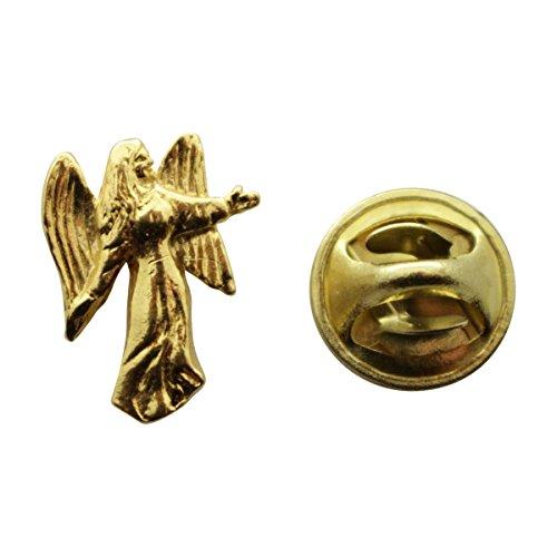 - Angel Mini Pin ~ 24K Gold ~ Miniature Lapel Pin ~ Sarah's Treats & Treasures