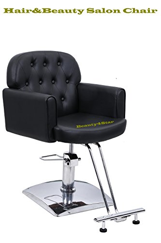Beauty4Star Hair Styling Salon Chair for Hair Cutting Styling Dyeing with Oil Pump and Foot Rest