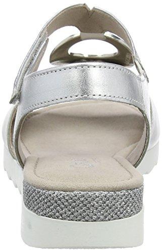 Gabor Dames Confort-62 745 Argent Sandale Ouverte (argent (glamour) 10)