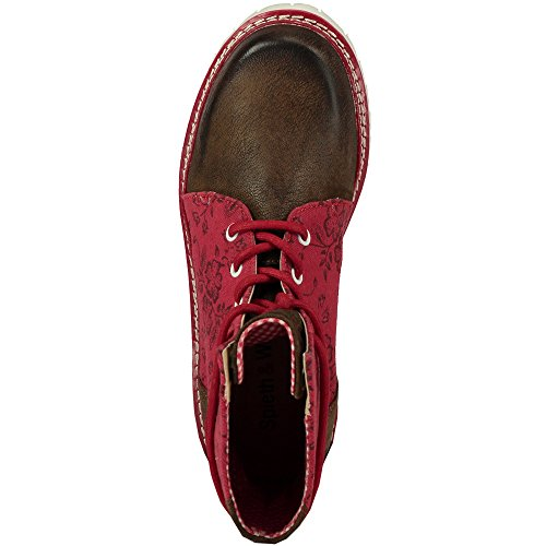 Janina Chaussures lacets Wensky Rot Rouge femme à Spieth amp; Rouge BAx4wIqIE