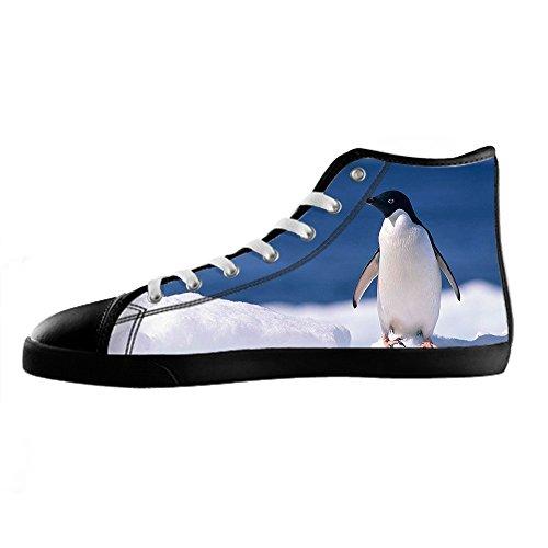 Custom Pinguin Mens Canvas shoes Schuhe Lace-up High-top Sneakers Segeltuchschuhe Leinwand-Schuh-Turnschuhe A