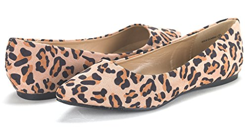 On DREAM Toe Pointed CLASSIC Comfort Slip SOLE FANCY Leopard Casual Women's Shoes Ballet Soft PAIRS Flats 7x0wrAq7