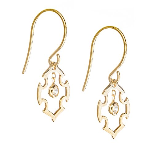 Cross Earrings, 14Kt Gold Earring by DiamondJewelryNY