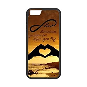 iPhone 6 Protective Case - Sometimes You Gotta Fall Before You Fly Quote Hardshell Cell Phone Cover Case for New iPhone 6 Designed by HnW Accessories