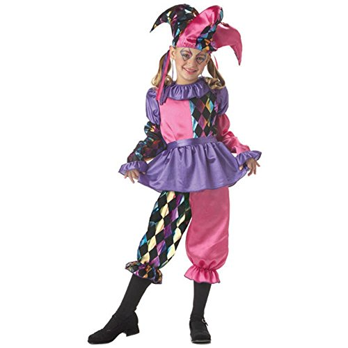 Child's Harlequin Jester Costume (Size:X-Sm 4-6) - Harlequin Costumes For Sale