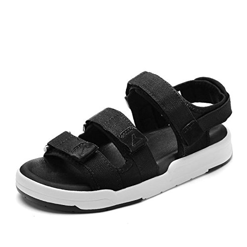 Xing Lin Ladies Sandals Summer Sports Sandals Flat Beach Shoes Students Velcro Flat With Casual Shoes 1198 black pfuuHYQ