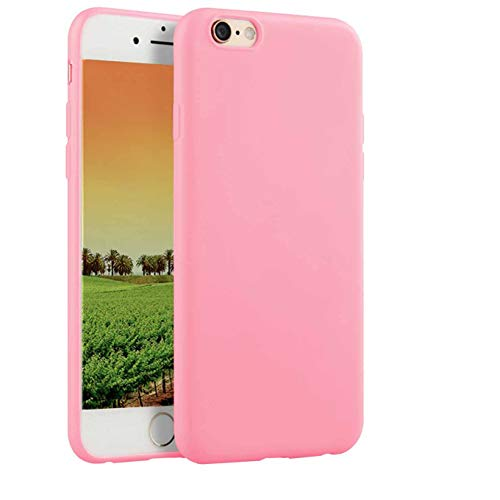 Compatible with iPhone 6 and iPhone 6s 4.7-Inch Case,Soft TPU Slim Thin Durable Anti-Scratch Shock-Absorption Resistant Shield Cell Mobile Phone Cover Case for Girls Women Man Boys,Pink