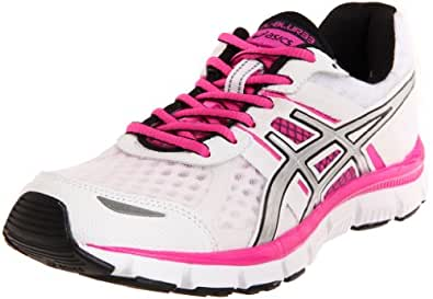 ASICS Women's GEL-Blur33 Running Shoe,White/Platinum/Hot Pink,6 M US