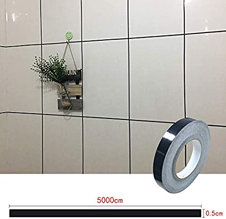 Suppyfly Klebeband Keramikfliesen schimmelfest Spaltband Fliesenspaltband wasserdichte Folienleiste Silber Goldene Felgen
