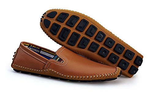 BIFINI Men's Cowhide Casual Driving Moccasins Shoes Slip On Loafer Brown by BIFINI (Image #6)