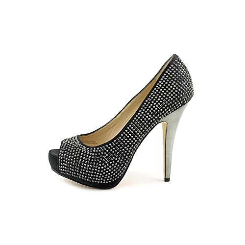 Inc Internationale Concepten Dames Maarie Fabric Peep Teen Platform Pumps Zwart