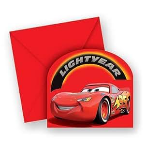 Manege 9935 Cars - Tarjetas de invitación para fiestas (6 unidades)