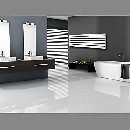 370 x 1800 mm ECD Germany Radiateur vertical Stella Design Radiateur s/èche-serviettes pour salle de bain Blanc
