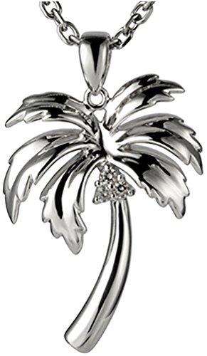 925 Sterling Silver Hawaiian Jewelry Palm Tree Pendant (M) (Palm Tree Pendant)