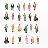 #1: CWBPING 50pcs HO Scale 1:87 Standing Poses People Sit Figures Scenery Passengers 1:87 Scale Model Figures Model Building Kit
