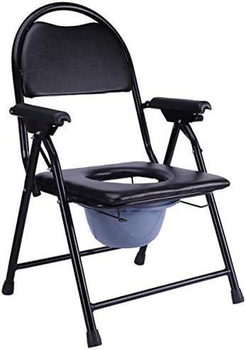 介護用ポータブルトイレ椅子 ポータブルトイレ軽量 防災 簡易便座 仮設トイレ 介護用 折畳可 多機能椅子 背もたれ アームレスト付き 高齢者
