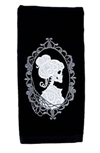 YDS Accessories Haunted Mansion Hers Skeleton Halloween Hand Towel Kitchen and Bath Gothic Home Decor