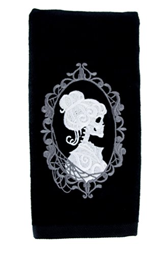 Halloween Haunted Mansion (Haunted Mansion Hers Skeleton Halloween Hand Towel Kitchen and Bath Gothic Home Decor)