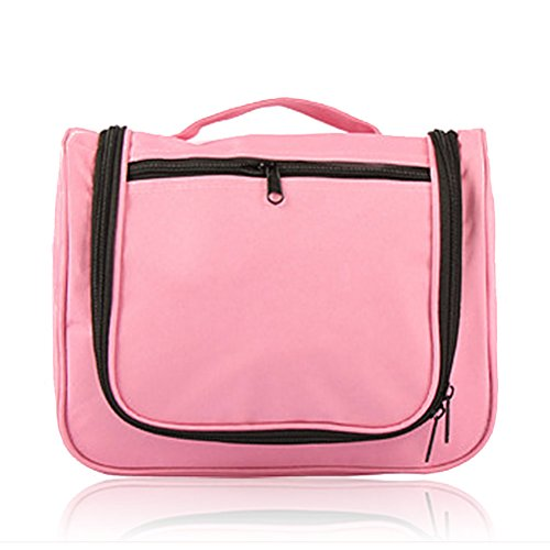 Vintga Waterproof Abroad Travel Outdoor Fitness Wash Bag Organzier Bathroom Storage Package Toiletry Cosmetic Bag Multi - functional Foldable Portable Hand Bag with Hanging Hook (Simple Light Pink) - Target Travel Bag