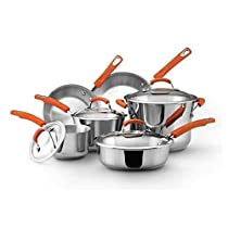 Modern Stainless Steel 10-piece Kitchen Cookware Set