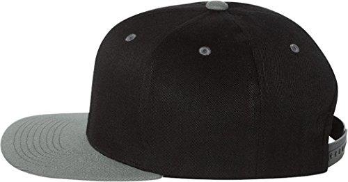 Yupoong 110F Unisex adulto 110(mezcla de lana Solid Cap negro/gris