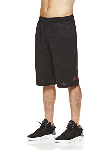 Above the rim Men's Mesh Basketball Shorts - Workout & Gym Shorts for Men - Black Heather - # 1 Overall, Small ()