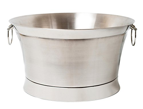 BirdRock Home Double Wall Round Beverage Tub | Stainless Steel | Large]()