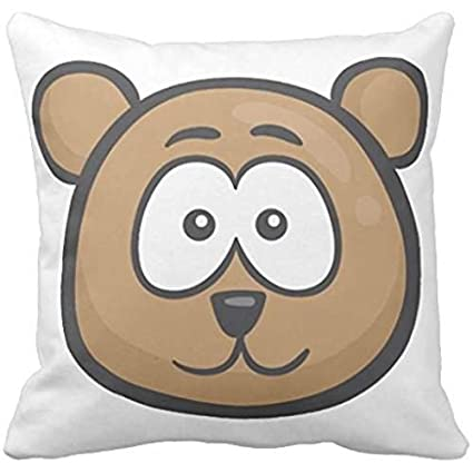 Oso Emoji cara funda de almohada: Amazon.es: Hogar