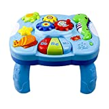 Gereton Toys Musical Learning Table Aquatic Creatures Music Activity Center Game Table Toddlers Infant Kids Toys For 1 2 3 Years Old Boys & Girls, Baby Learning Table