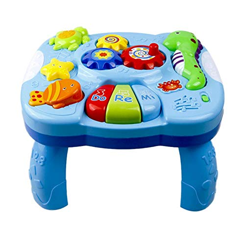 Samber Musical Learning Table Baby Toys Baby Study Desk Learning Table Early Education Music Activity Center Game Table Toddlers Infant Kids Toys for 1 2 3 Years Old Boys & Girls/A
