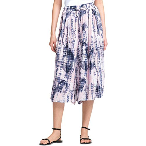 - DKNY Womens Printed Double Pleated Culottes Pink L